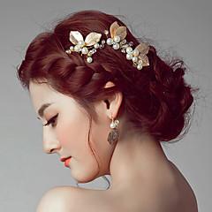 סגסוגת כיסוי ראש-חתונה אירוע מיוחד קז'ואל חוץ קליפס לשיער סיכת שיער Stick השיער 2 חלקים