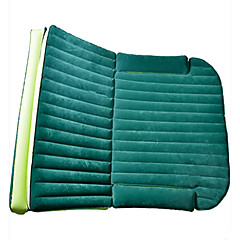 Bil madrass air bed dobbel (180 * 128 * 12cm) flocking bærbare oppblåsbare komfortable