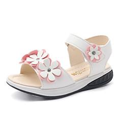 בנות-סנדלים-PU-נעלי ילדת הפרח-לבן ורוד-חתונה שמלה יומיומי מסיבה וערב-עקב שטוח