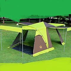 3-4 személy Dupla Egy szoba kemping sátorTúrázás Kemping Utazás-Zöld Kék