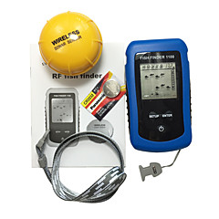 Fish Finder Waterproof LED Other LCD On/off White LED Wireless 2×AAA Hard Plastic yellow shad