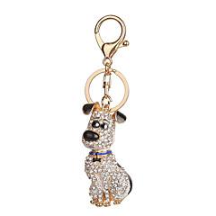 Key Chain 犬 Key Chain シルバー ブラウン メタル