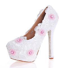 Damen-High Heels-Hochzeit Kleid Party & Festivität-Lackleder-Stöckelabsatz-Komfort Neuheit-Weiß