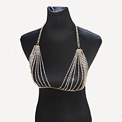 Damskie Biżuteria Łańcuch nadwozia / Belly Chain Natura Modny Bohemia Style Kryształ górski Stop Silver Biżuteria NaSpecjalne okazje