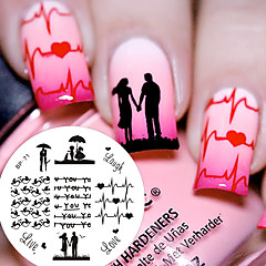 1 Pc BP71 Love Theme Couple Heart Nail Art Stamping Template Image Plate Cute Birds Image Stamp Plate