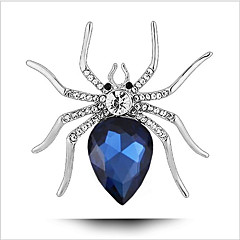 Brooches Crystal Crystal Platinum Plated Ocean Blue Animal Design Jewelry Wedding Party Special Occasion