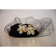 Alloy Flannelette Net Headpiece-Wedding Special Occasion Outdoor Fascinators Birdcage Veils 1 Piece