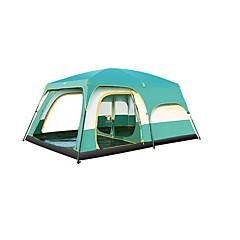 5-8 osoba Dvaput Dvije sobe s prozorčićem šator za kampiranjeKampiranje Putovanje-Zelen