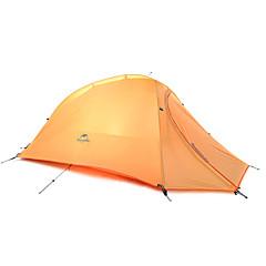 1 személy Sátor Dupla Összecsukható sátor Egy szoba kemping sátor Szilikon Összecsukható Hordozható-Kemping Szabadtéri-Narancssárga
