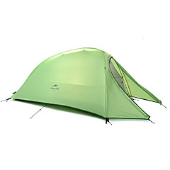 Naturehike 1 henkilö Teltta Kaksinkertainen teltta Yksi huone Taitettava teltta Kannettava Sateen kestävä Taiteltava 4 Vuodenaika varten