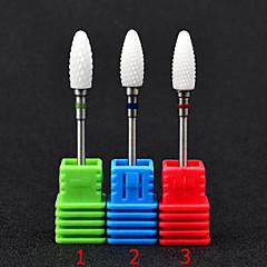 1pcs 3 couleurs ongle en céramique moulant tête tête-tête tête de meulage usure machine à meuler la tête de flamme