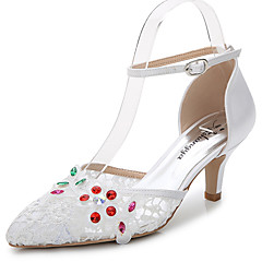 Women's Sandals Summer Fall D'Orsay & Two-Piece Synthetic Silk Customized MaterialsWedding Outdoor Office & Career Party & Evening Dress