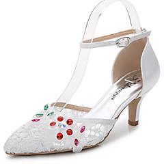 נשים-סנדלים-משי חומרים בהתאמה אישית סינטתי-שפיץ ושני חלקים-לבן-חתונה שטח משרד ועבודה שמלה יומיומי מסיבה וערב-עקב סטילטו