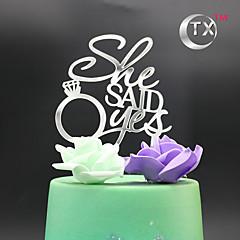 케이크 장식 비 개인화 모노그램 아크릴 웨딩 클래식 테마 OPP