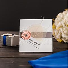 מותאם אישית מקופל הזמנות לחתונה כרטיסי הזמנה סגנון וינטג' סגנון מודרני נייר פנינה