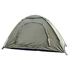 1 Pessoa Tenda Único Tenda Dobrada Um Quarto Barraca de acampamento 2000-3000 mm Fibra de Vidro Oxford Prova de Água Portátil-Equitação