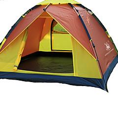 3-4 사람 텐트 싱글 캠핑 텐트 원 룸 자동 텐트 방수 방풍 자외선 방지 폴더 통기성 용 하이킹 캠핑 야외 유리 섬유 옥스포드 CM