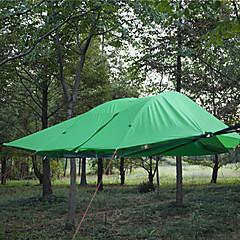 3-4 사람 텐트 캠핑 쉘터 더블 베이스 캠핑 텐트 원 룸 접이식 텐트 방수 방풍 자외선 방지 폴더 통기성 용 하이킹 캠핑 야외 2000-3000 mm 유리 섬유 옥스포드-300*300*100 CM