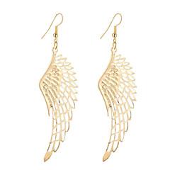 עגילי טיפה תכשיטים עיצוב מיוחד סגנון נתלה אופנתי וינטאג' סגנון מינימליסטי אלגנטי מצופה כסף ציפוי זהב סגסוגת כנפיים / נוצה תכשיטים לחתונה