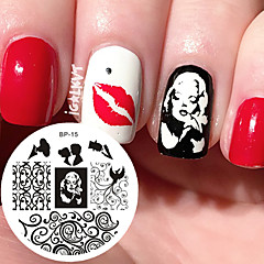 Marilyn Monroe Pattern Nail Art Stamp Template Image Plate BORN PRETTY Nail Stamping Plates BP15 Nail Art Decoration