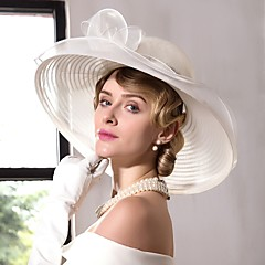 Tulle Flax Organza Headpiece-Wedding Special Occasion Casual Office & Career Hats 1 Piece