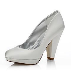 נשים-נעלי חתונה-משי-נוחות נעלי dyeable-קריסטל-חתונה שטח משרד ועבודה שמלה מסיבה וערב-עקב עבה