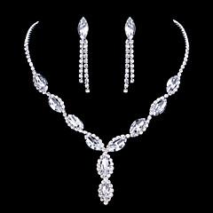 Νυφικό κόσμημα σετ Cubic Zirconia Μοναδικό αρχική Κοσμήματα Cubic Zirconia Κράμα Oval Shape 1 Κολιέ 1 Ζευγάρι σκουλαρίκια ΓιαΓάμου Πάρτι