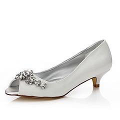 Dame-Silke-Lav hæl-Dyeable Sko Komfort-bryllup sko-Bryllup Friluft Kontor og arbeid Formell Fest/aften-