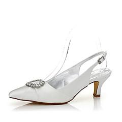 Feminino-Sapatos De Casamento-Conforto Sapatos Dyeable-Salto Baixo--Seda-Casamento Ar-Livre Escritório & Trabalho Social Festas & Noite