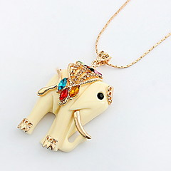 Pendant Necklace Elephant Animal Long  Sweater Chain Necklaces Rock Euramerican OL  Women's Jewelry Gifts  Daily Party Graduation Movie Jewelry