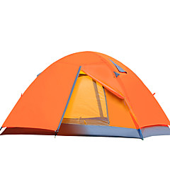2 사람 텐트 더블 베이스 캠핑 텐트 원 룸 접이식 텐트 수분 방지 방수 방풍 비 방지 용 하이킹 피싱 캠핑 여행 야외 2000-3000 mm 유리 섬유 옥스포드 CM