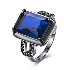 指輪 クリスタル キュービックジルコニアベーシック ユニーク 幾何学形 友情 高級ジュエリー ステートメントジュエリー シンプルなスタイル ファッション ブリティッシュ ビンテージ クラシック ボヘミアスタイル パンクスタイル 愛らしいです あり ヒップホップ