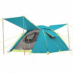 3-4人 テント ダブル 自動テント 1つのルーム キャンプテント >3000mm 炭素繊維 オックスフォード 防湿 防水 防雨 通気性-ハイキング ビーチ キャンピング 旅行 屋外-
