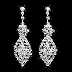 Dames Druppel oorbellen Dangle Oorbellen Bergkristal Uniek ontwerp Hangende stijl Legering Geometrische vorm Sieraden VoorBruiloft Feest