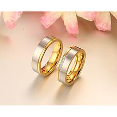 Couple Couple de Bagues Anneaux Bague Zircon cubique Mode Simple Style Elegant Zircon Forme Ronde Bijoux Pour Mariage Soirée Quotidien
