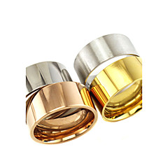 Heren Dames Ringen voor stelletjes Ring Basisontwerp Kostuum juwelen Klassiek Roestvast staal Buisvorm Sieraden Voor Dagelijks Causaal