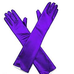 אורך אופרה קצות אצבעות כפפה דמוי עור כפפות כלה כפפות ערב\מסיבה כל העונות ריינסטון