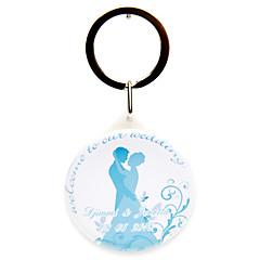 פלסטיק מצדדים במחזיק מפתחות-12 חתיכה / סט מחזיקי מפתחות נושא אגדות מותאם אישית לבן / ורוד