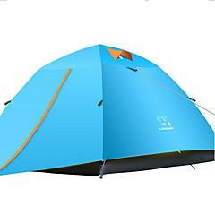 LINGNIU® 3-4 henkilöä Teltta Kaksinkertainen teltta Yksi huone Retkeilyteltat Vedenkestävä Pidä lämpimänä Sateen kestävä Aurinkovoide