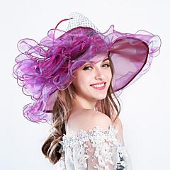 Women's Grace Feather / Silk / Organza Headpiece-Wedding / Special Occasion / Party / Casual / Outdoor Fascinators Hats 1 Piece Hair Accessories