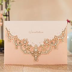 Wrap U0026 Pocket Wedding Invitations 50 Invitation Cards Classic Style  Embossed Paper