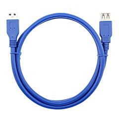 USB 3.0 Jatkojohto, USB 3.0 to USB 3.0 Jatkojohto Uros - Naaras 0.6m (2 jalkaa)