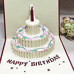 Top Fold Vjenčanje Pozivnice 5-Thank You Cards Setovi pozivnica Umjetnički stil Cvjetni Style Reljefni papir Cvijeće