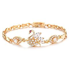 Dames Armbanden met ketting en sluiting Zirkonia Modieus Vintage Verguld Wings Sieraden Voor Bruiloft Feest/Uitgaan Sportief Verloving