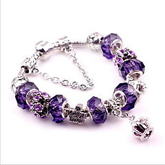 Women's Strand Bracelet Crystal Natural Fashion Crystal Cooper Alloy Oval Crown Jewelry ForWedding Party Special Occasion Anniversary