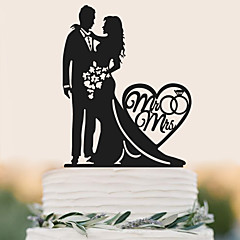 Factory direct selling acrylic bride and groom with a love cake wedding cake decoration
