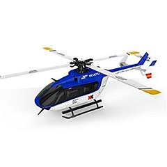 XK RC Helikopter 6CH Vezérlő 6 Tengelyes 2,4 G - Kék Szénszál