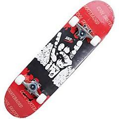 31 Inch Skates completos Skates padrão Leve Bordo 608ZZ-Branco Vermelho Azul Padrão