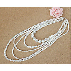 Women's Layered Necklaces Imitation Pearl Jewelry For Wedding Party Special Occasion Anniversary Birthday