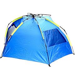 2人 テント 自動テント キャンプテント キャンバス 通気性 防水 防雨